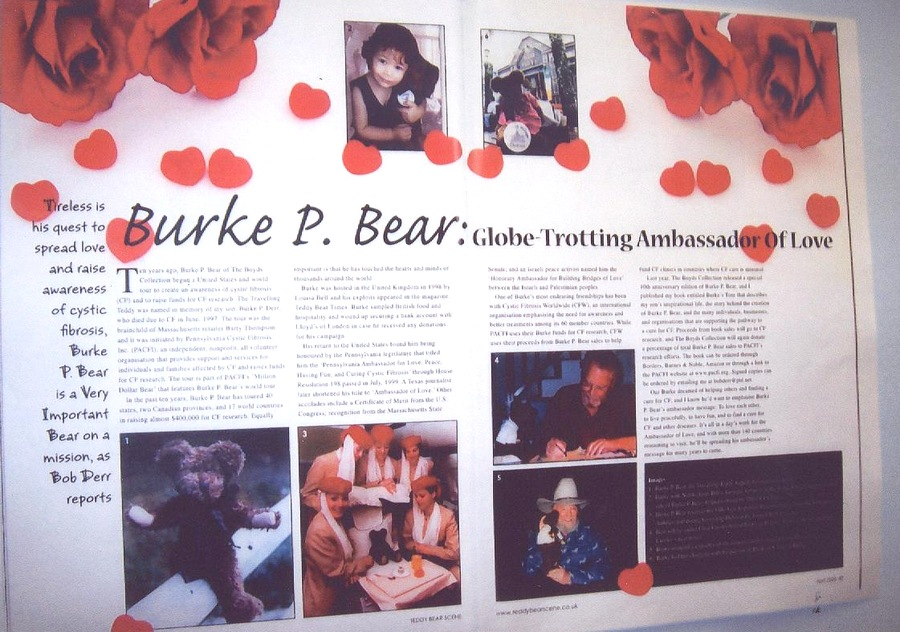 Burke P Bear - 2008 Teddy Bear Scene article