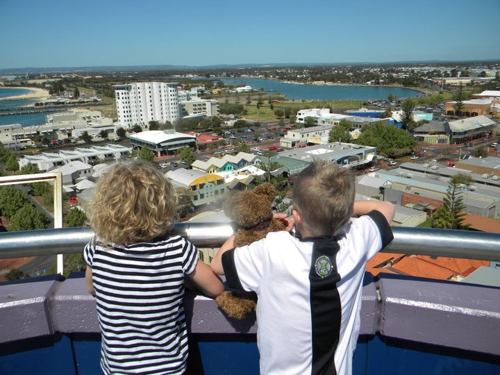Burke and Joel and Jeslyn in Bunbury, Western Australia
