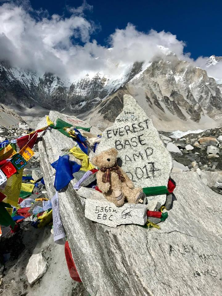 Burke at Everest base camp